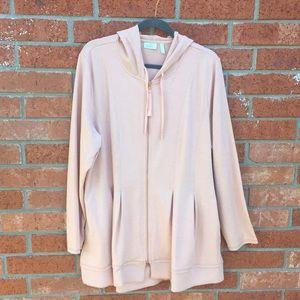 Jersey knit zip-up light weight hoodie
